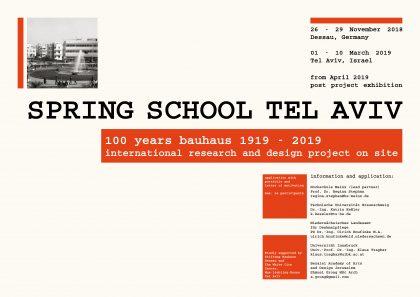 Von Dessau nach Tel Aviv   Internationales Projekt zum Bauhaus-Jubiläum
